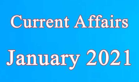 January 2021 current affairs in Hindi